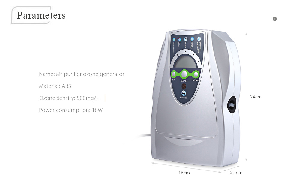 Multipurpose Air Purifier Ozone Disinfector Fruits Vegetables Sterilization