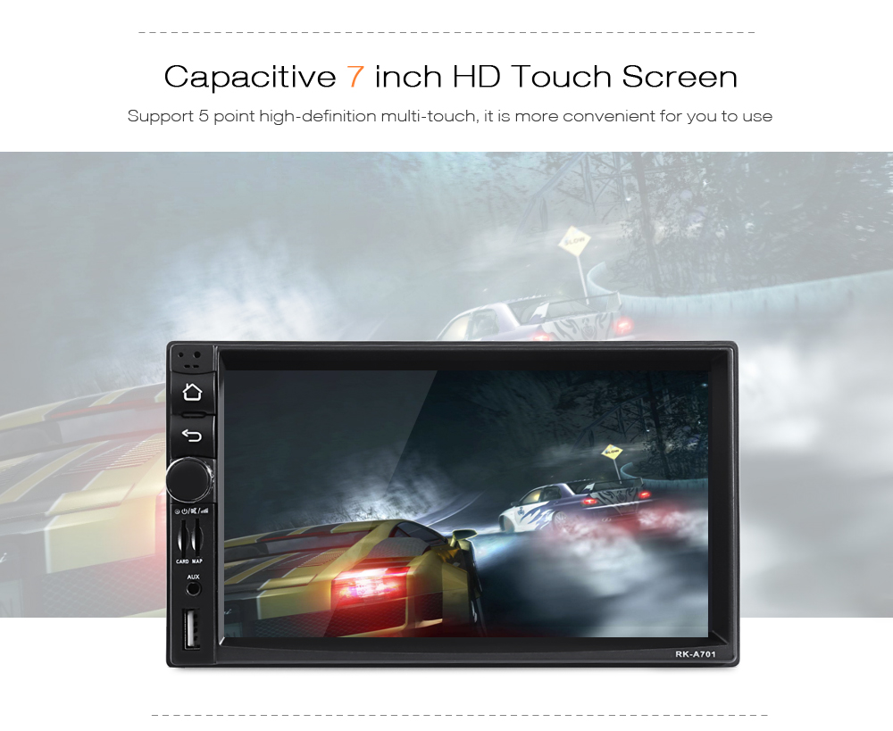 RK - A701 Android 4.4.4 Car DVD Player 7 inch HD Touch Screen ...