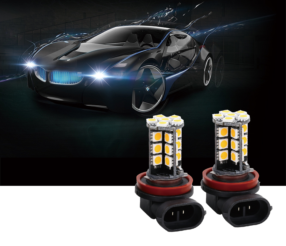 SCOE 2pcs  Universal Automobile H8 30SMD  12V LED Fog Lamp Daytime Running Light