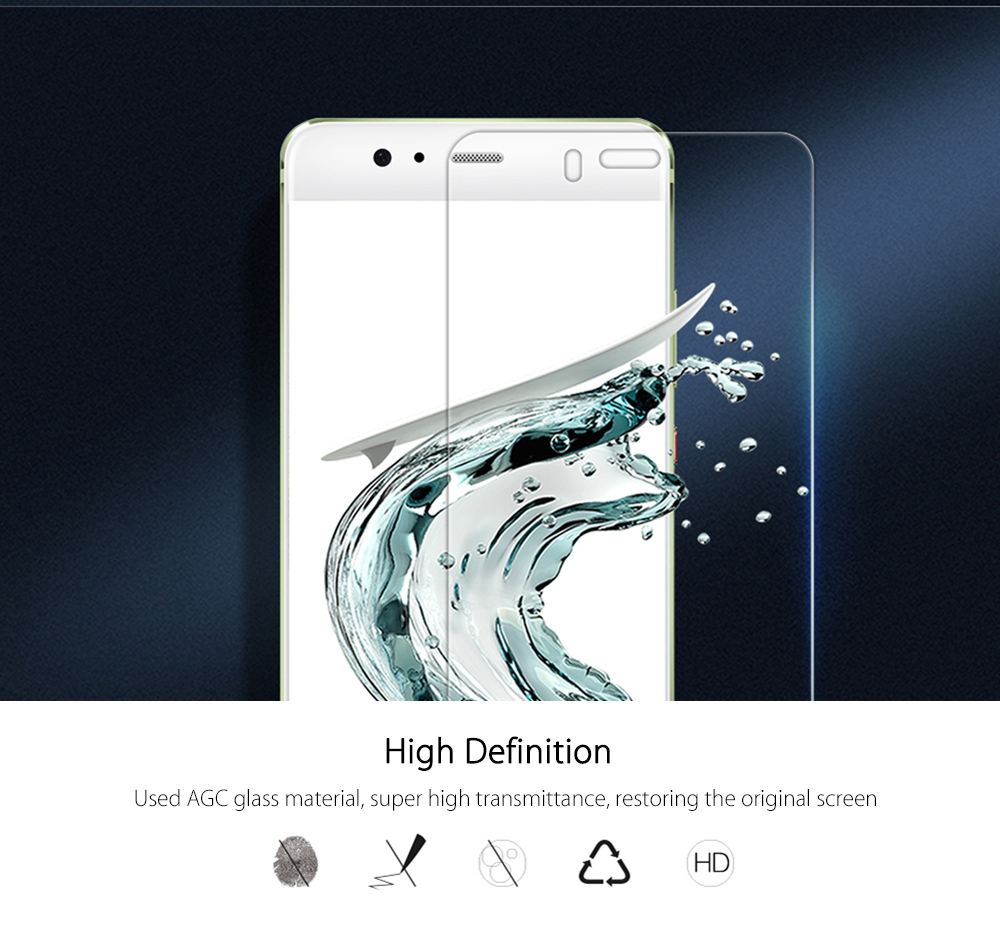 NILLKIN H + PRO 2.5D Arc Edge Toughened Glass Explosion-proof Super Strength Protective Film for HUAWEI P10 Plus 0.2mm