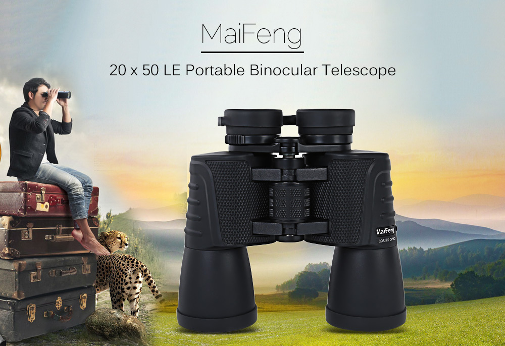 MaiFeng 20 x 50 LE Portable Binocular Telescope for Outdoor Hiking Hunting Camping Sports- Black