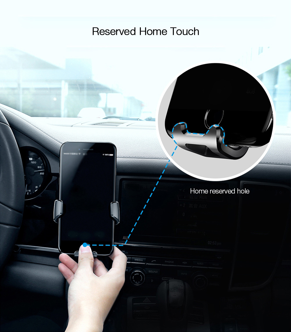 Baseus Gravity Air Vent Car Mount 360 Degree Rotation Phone Holder Cradle