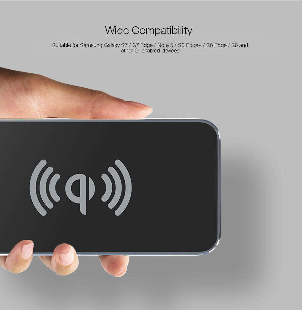 Awei W1 Qi Wireless Charging Transmitter Aluminum Alloy Pad Dual Coil with  Indicator Light