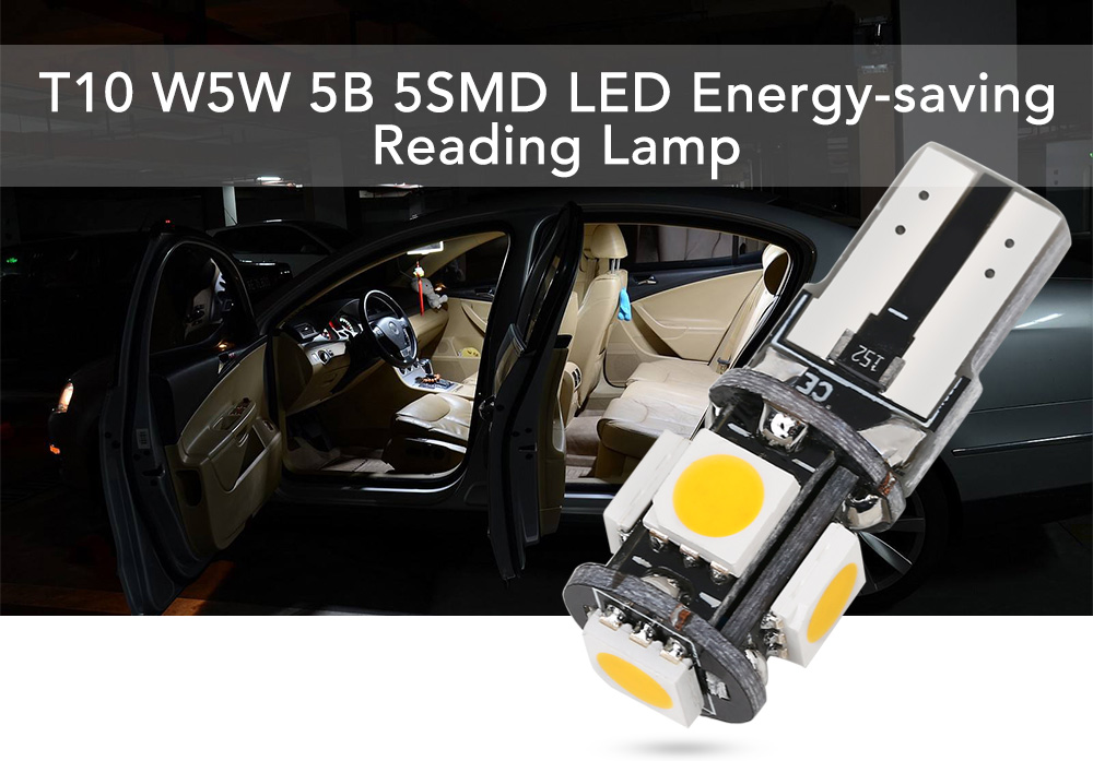 SCOE T10 5B 5SMD Car LED Highlight Reading Lamp