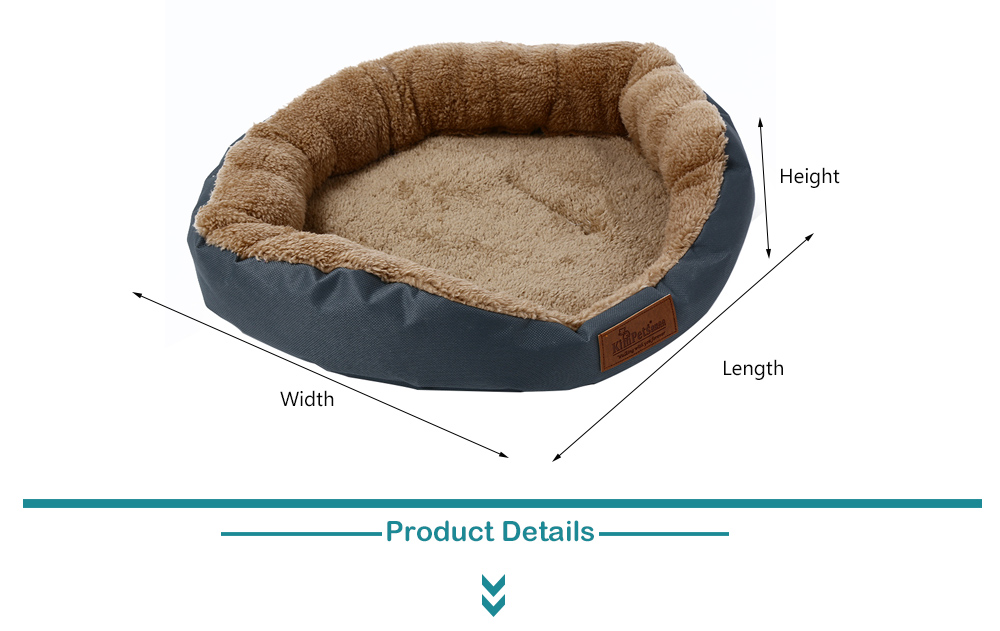 Kimpets Denim Fabric Soft Washable Pet Dog Cat Bed House Nest Pad