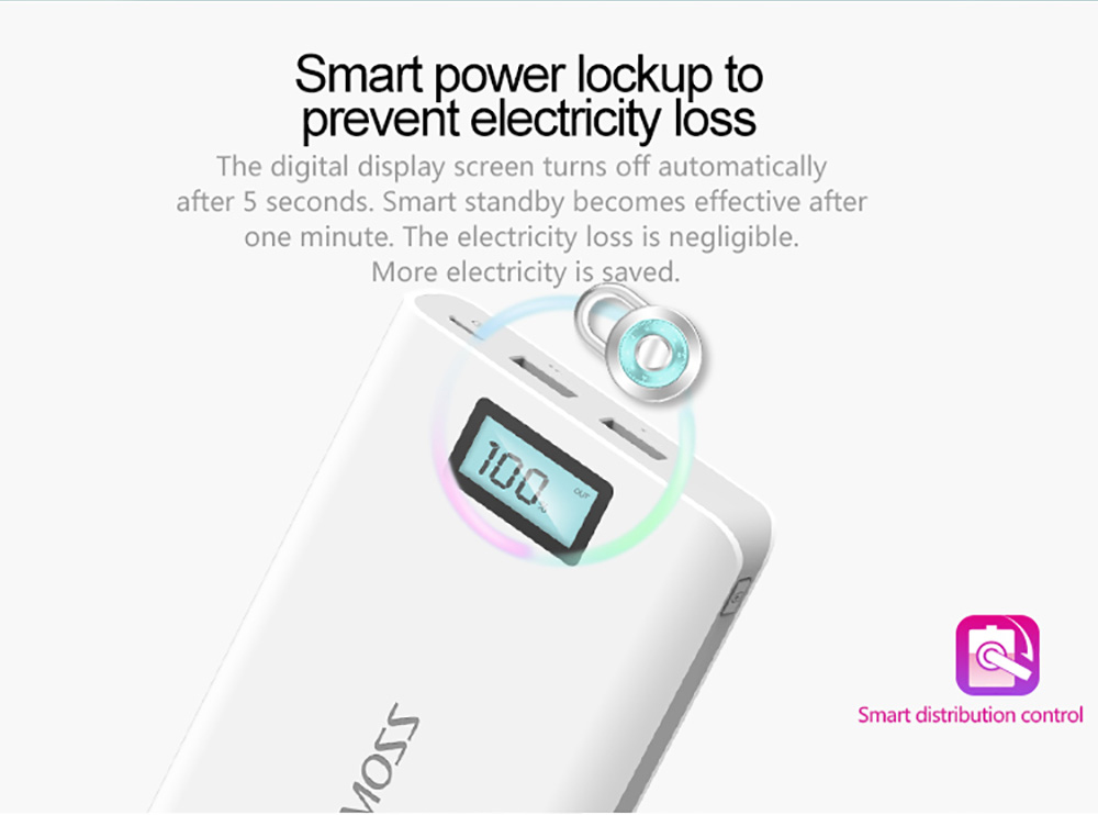ROMOSS Sense 6 Plus LCD 20000mAh Portable Charger External Battery Pack Power Bank Fast Charging for iPhone 5 5S 6S / 6 Plus Samsung Note 5 S6 Edge Plus Android Phones Tablet PCs