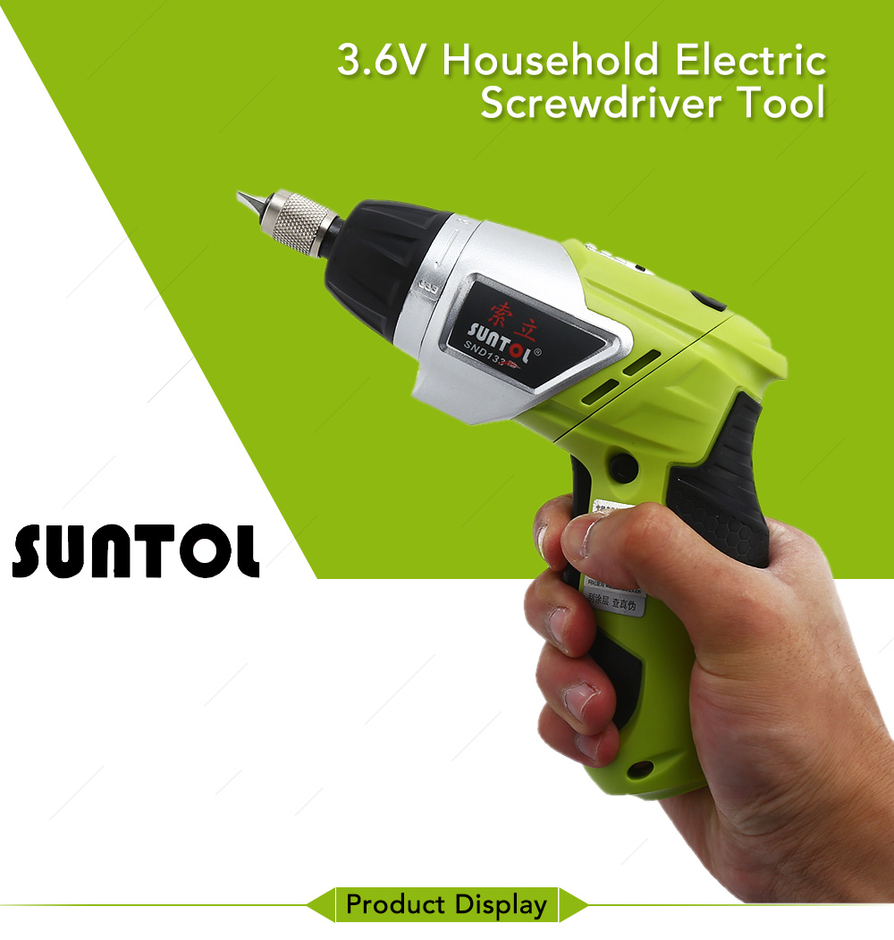Suntol 3 6v Lithium Ion Battery Rechargeable Drill Electric Household Driver Tool Black And