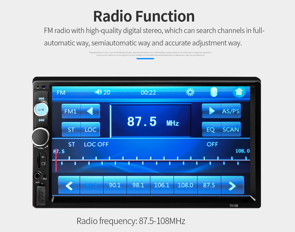 7010b Bluetooth V20 Car Audio Mp5 Player With Camera 6100 Free Satellite Electric Scooter Razor Wiring Diagram 12v 7 Inch Tft Screen Stereo Auto