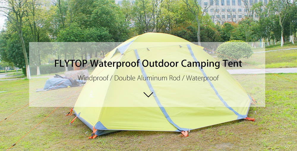 FLYTOP Waterproof Double Aluminum Rod Outdoor Tent Two Person Use
