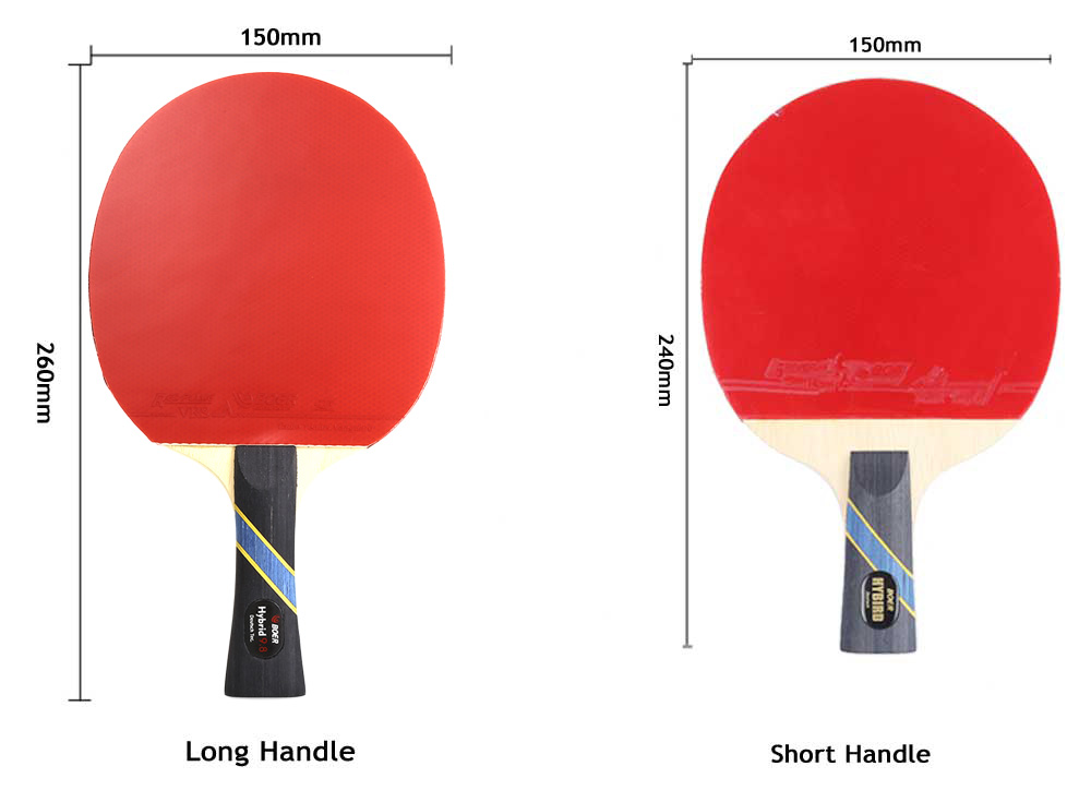 Ping pong paddle dimensions images for Table tennis