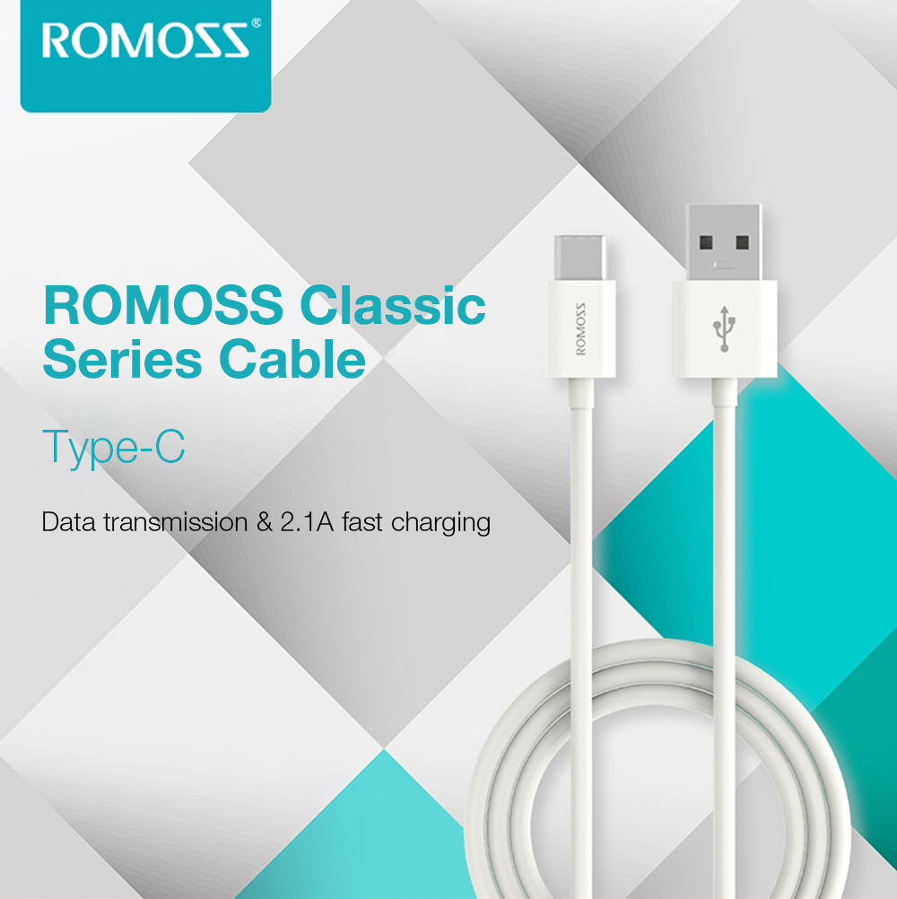 ROMOSS CB30b Classic Series Type-C Data Transmission 2.1A Charging Cable 1M