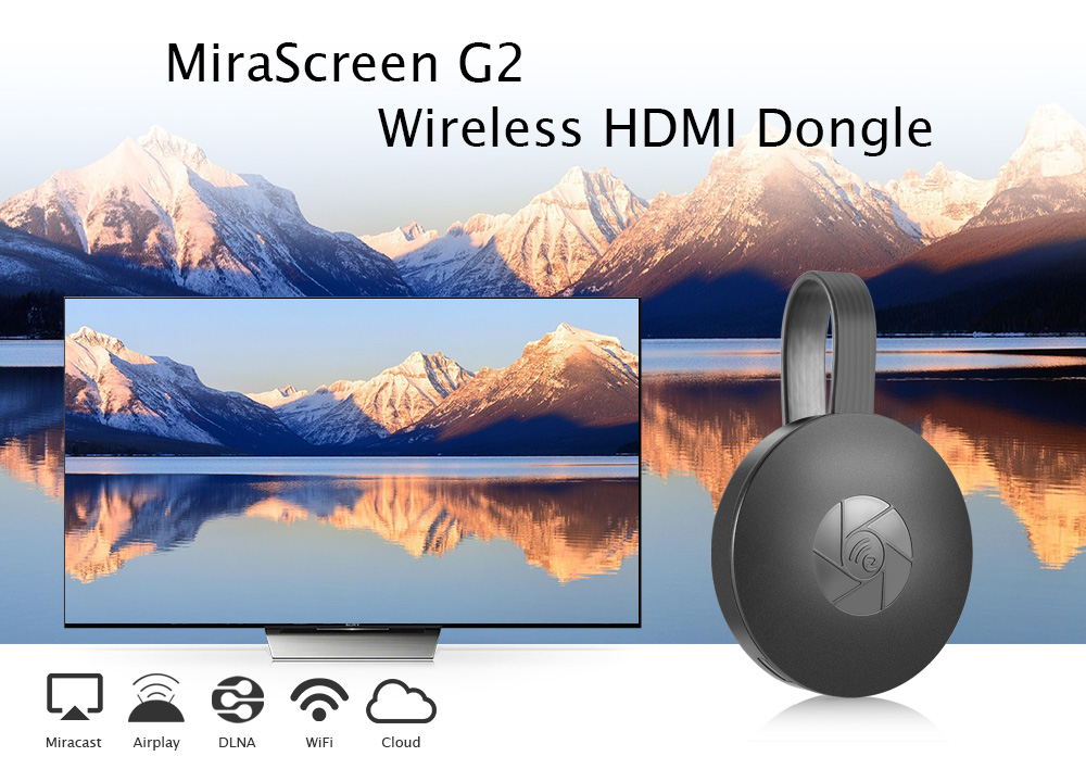 MiraScreen G2 Wireless HDMI Dongle Support Miracast Airplay