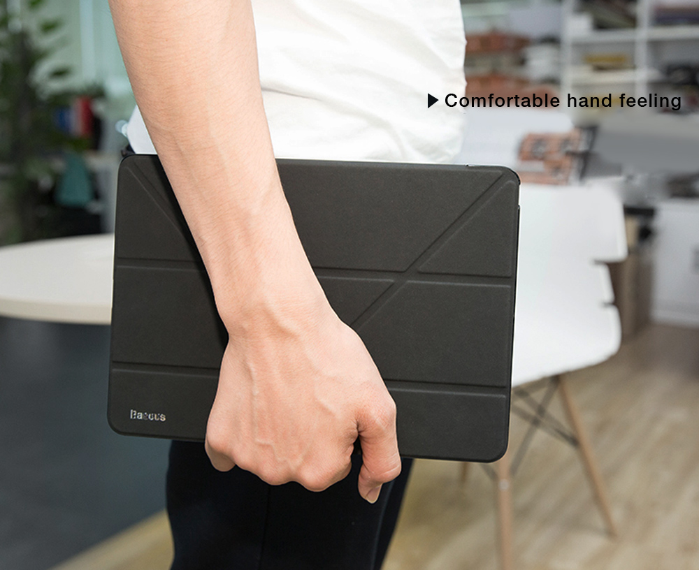 Baseus Simplism Y-type Leather Protective Tablet Cover Case for 2017 iPad 9.7 inch
