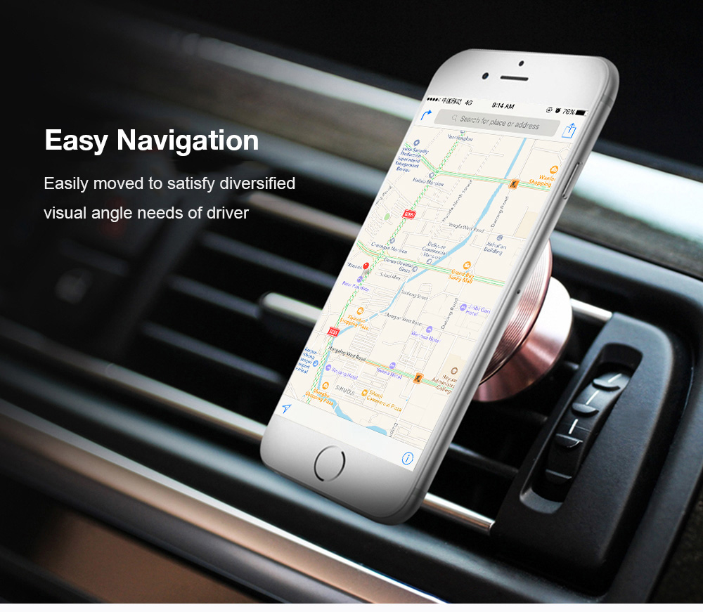 Mobile Phone Accessories Universal Car Phone Holder Magnetic Air Vent Mount Mobile Smartphone Stand Magnet Support Magnetic Phone Holder Desk 360 Rotate Diversified Latest Designs