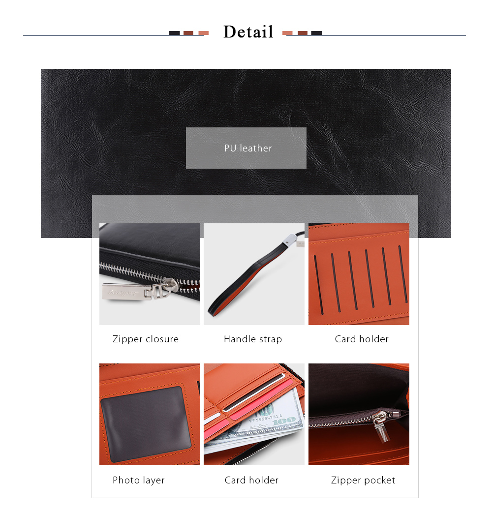 Baellerry Stylish Business Clutch Wallet Card Holder for Men ...
