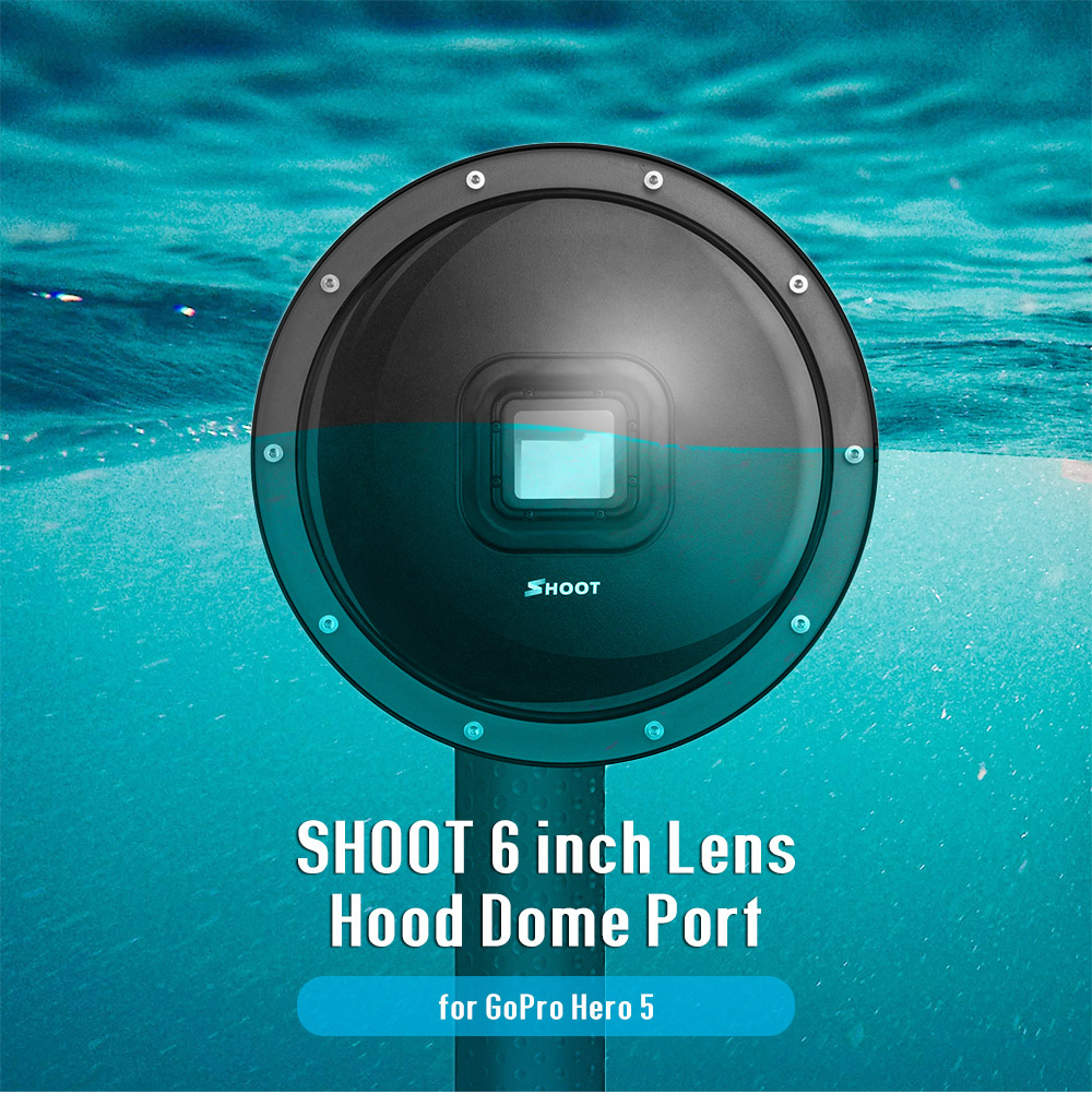 Shoot 6 Inch Dome Port Cover Set For Gopro Hero5 39 02