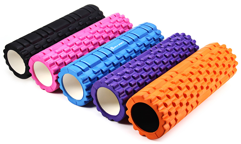 MILY_SPORT Fitness Floating Point EVA Yoga Foam Roller for Physio Massage - Black