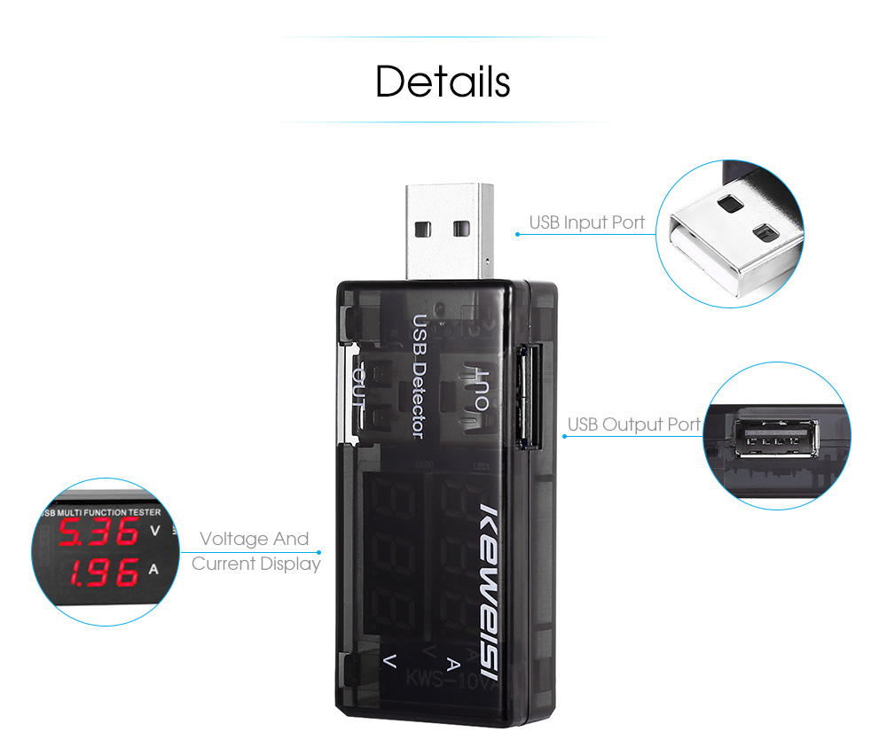 Usb Voltage Current Detector 533 Free Shipping Sensing Relay Hawkeye Package Contents 1 X