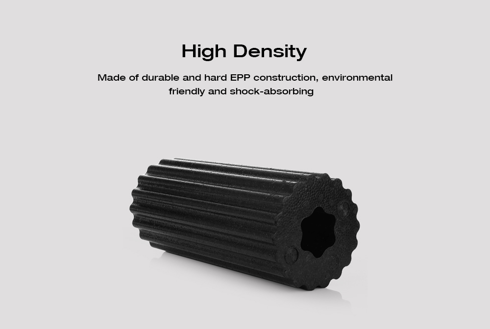 MILY SPORT Muscle Feet High Density Lightweight Yoga EPP Foam Roller for Gym Exercises Physio Massage Stretching- Black