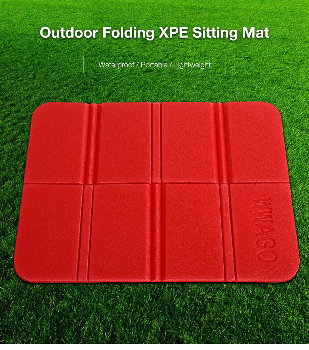 Wwago Outdoor Folding Camping Xpe Cushion Waterproof Sitting Mat Red
