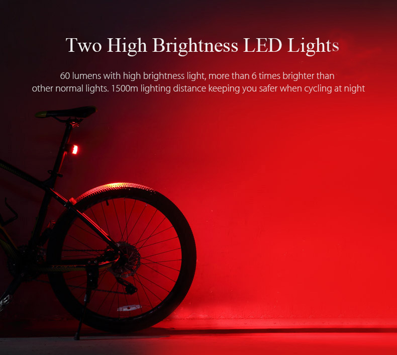 Rechargeable Bike Tail Light LED Bicycle Warning Safety Rear Lamp Waterproof un