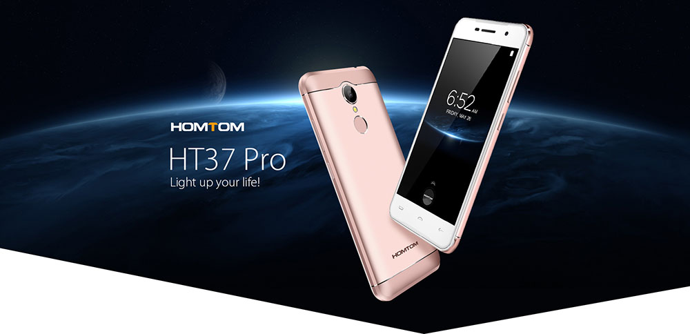HOMTOM HT37 PRO 5.0 inch Android 7.0 Smartphone MTK6737 1.3GHz Quad Core 3GB RAM 32GB ROM Fingerprint Scanner Dual Cameras