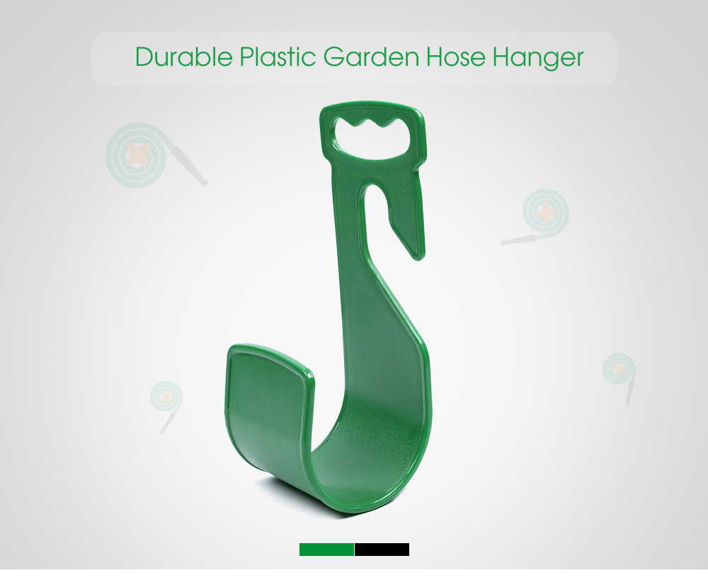 Durable Plastic Garden Hose Hanger Hook Watering Pipe Wall Mounted Holder