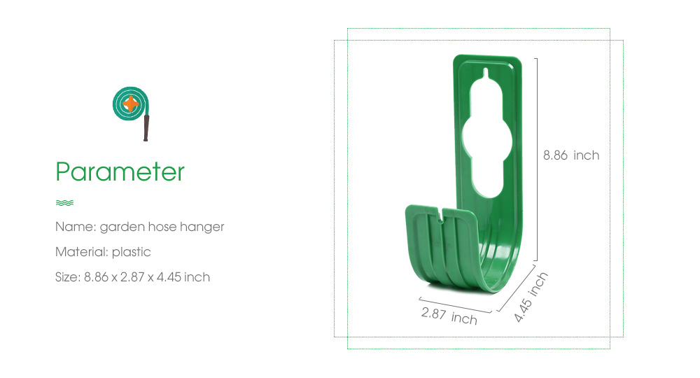 Plastic Garden Hose Hanger Hook Watering Pipe Wall Mounted Holder