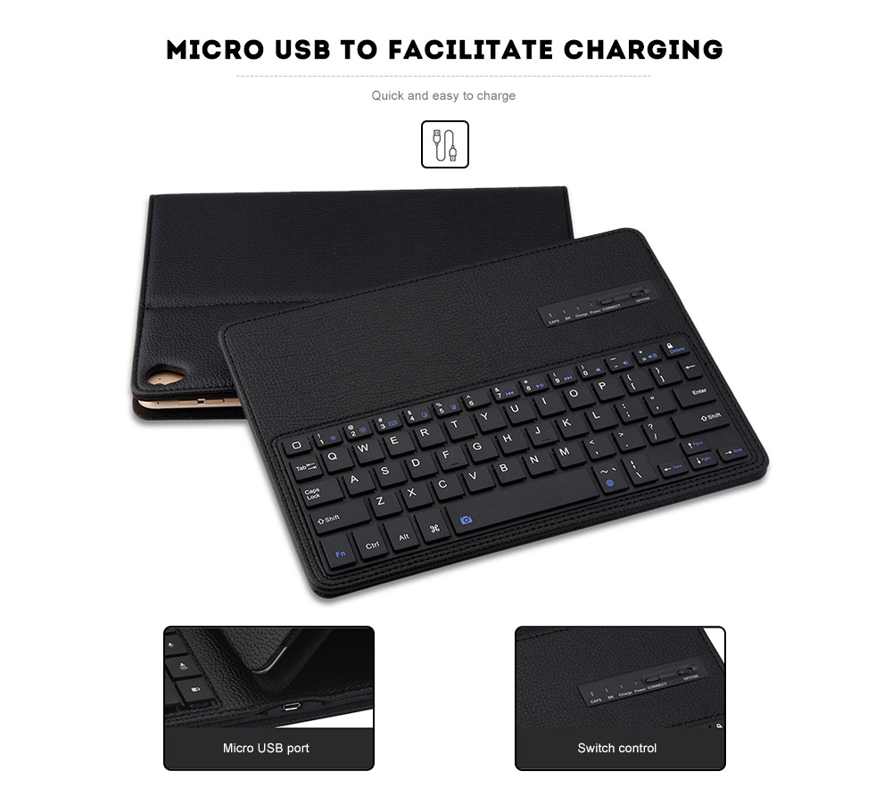 Bluetooth 3 0 Keyboard Leather Case for iPad Pro 10 5 inch 2017
