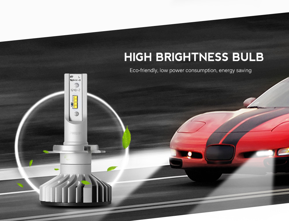 new philips pair of h7 car led headlight 12v 25w 6000k. Black Bedroom Furniture Sets. Home Design Ideas