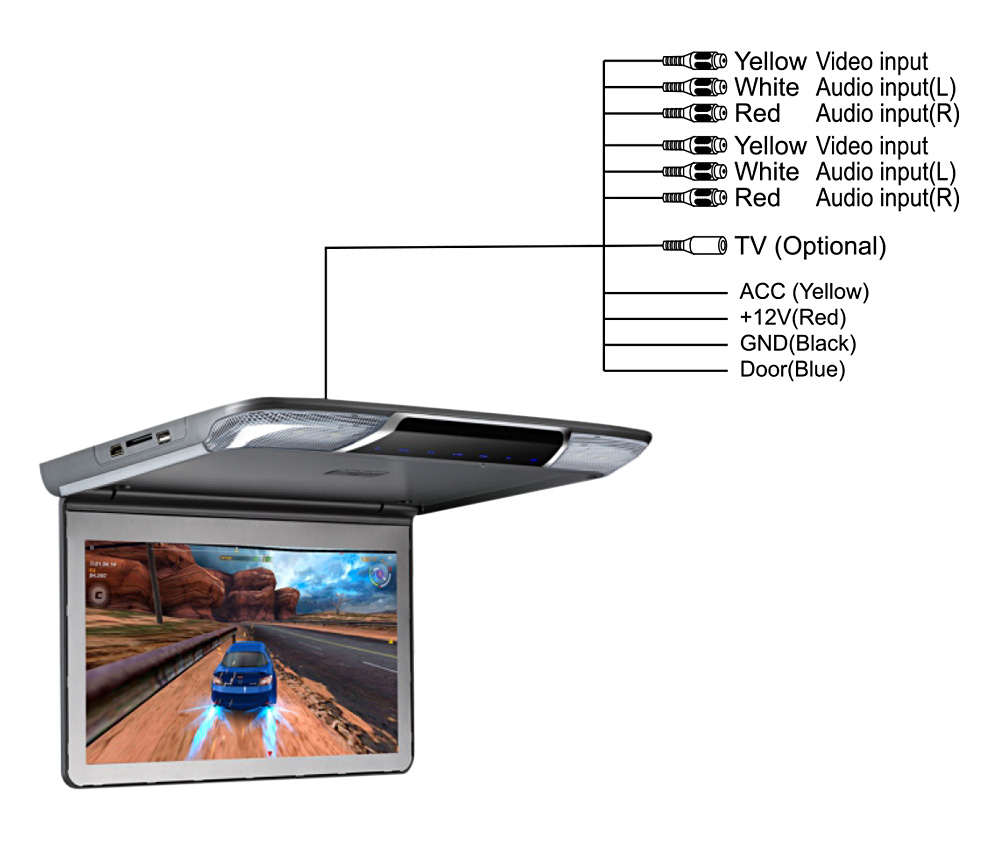 11 6 Inch OS - 1165M Roof Mount Player System