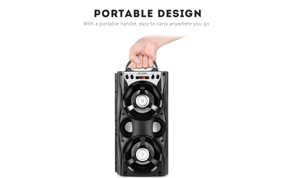 Redmaine MS - 261BT Bluetooth Speaker Portable Wireless Player with LED Light