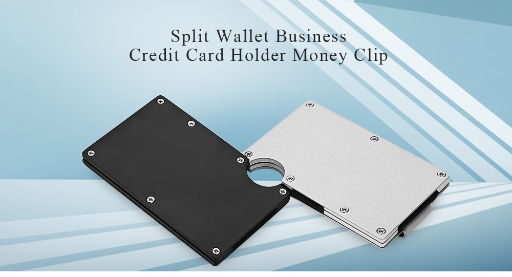 Guapabien split wallet money clip business credit card holder width 16cm lengthcm 7cm color black silver product weight 01100 kg package weight 01400 kg package size l x w x h 700 x 160 x 1030 cm reheart Choice Image