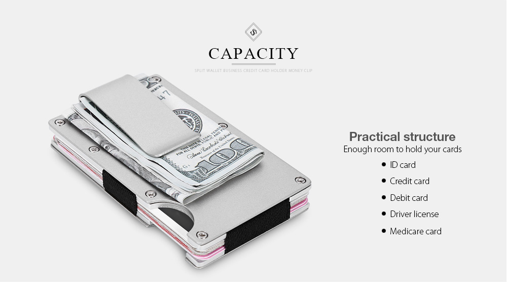Guapabien split wallet money clip business credit card holder package weight 01400 kg package size l x w x h 700 x 160 x 1030 cm 276 x 063 x 406 inches package contents 1 x money clip colourmoves