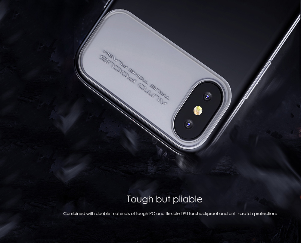 Baseus Slim Lotus Case Protective Shell Back Cover Anti-scratch Skin for iPhone X