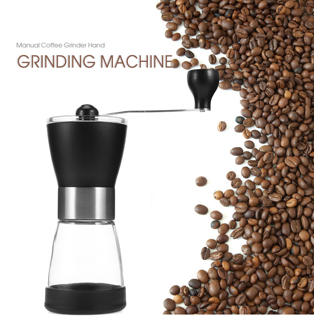 Manual Coffee Grinder Portable Hand Grinding Machine- Black