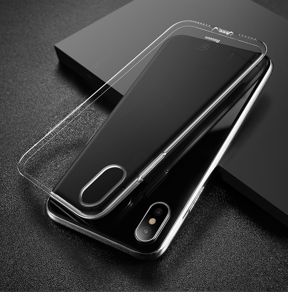 info for 7571c 6ca02 Baseus Simple Series Pluggy Case TPU Back Cover for iPhone X