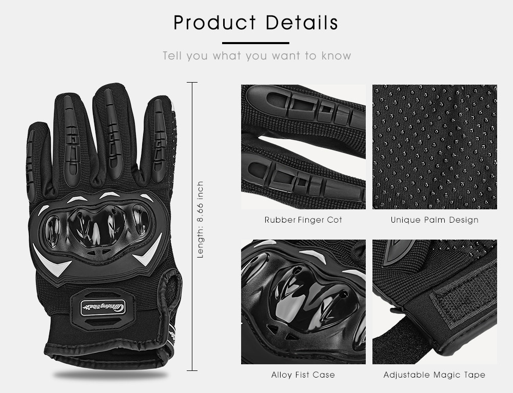 Riding Tribe MCS - 17 Motorcycle Motorbike Powersports Racing Gloves Anti-slip Touch Screen