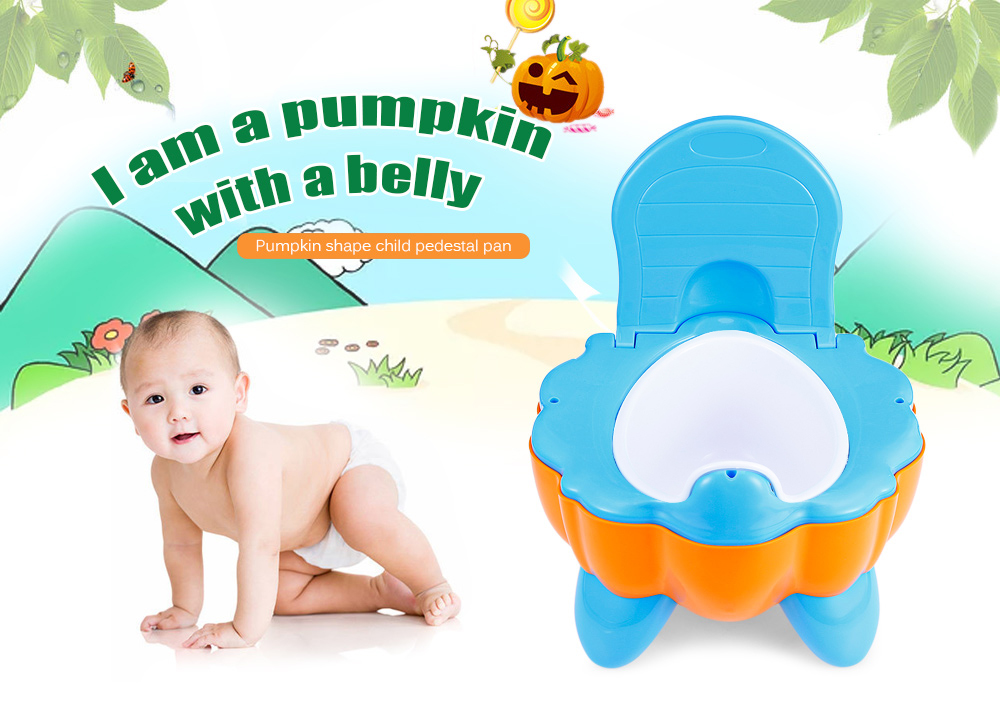 Baby Child Pumpkin Shape Nontoxic Pedestal Pan Potty Toilet Seat