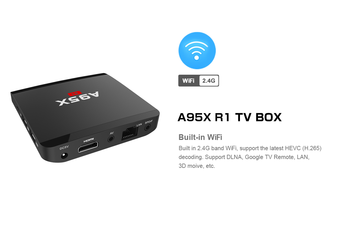 A95X R1 Android TV Box 2 4GHz