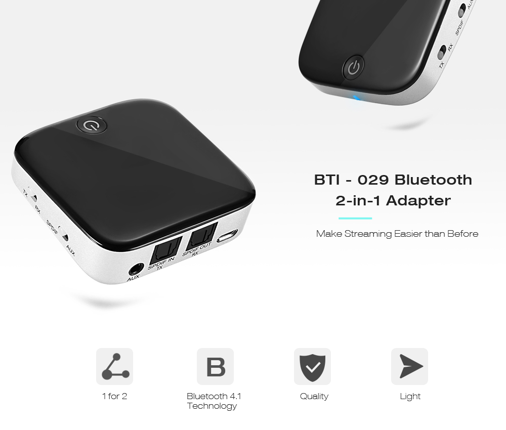 bti 029 bluetooth 2 in 1 adapter 19 48 free shipping gearbest com