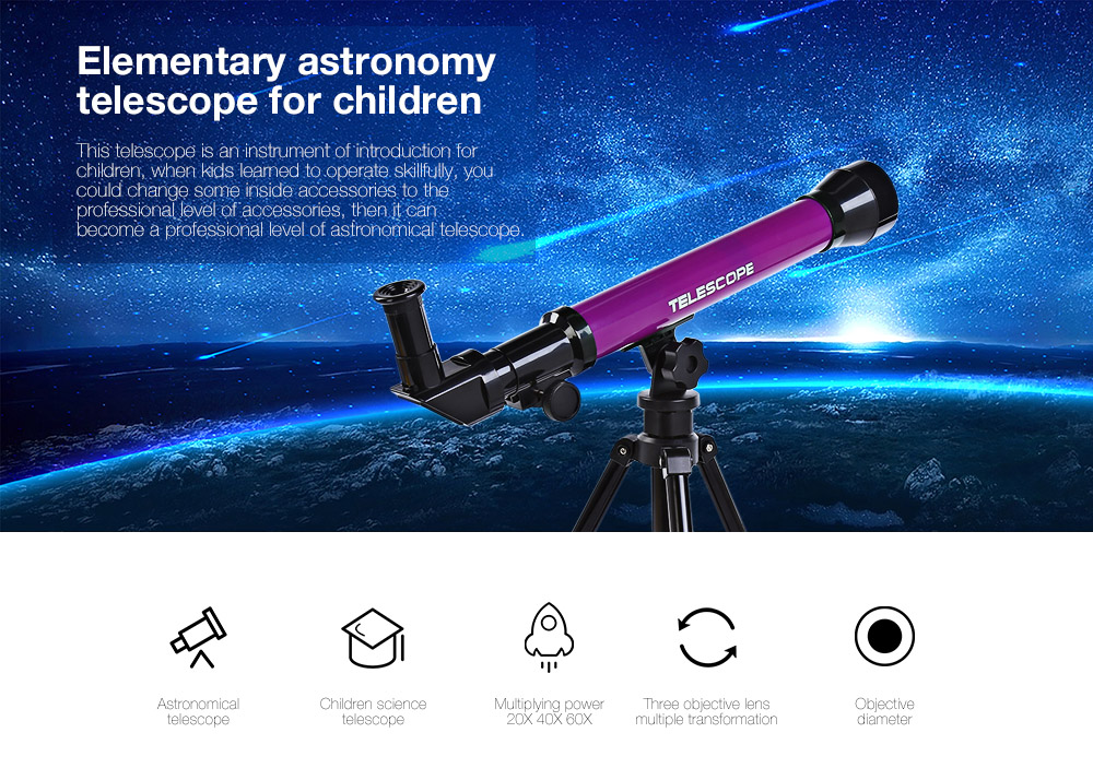 CHN AOHUA 3341 Child Education Astronomy Telescope Toy