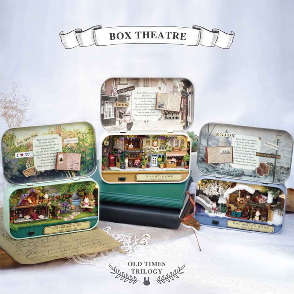 Kit Assembled Model Creative Gift Toy Box Theater Old Times Trilogy Happy