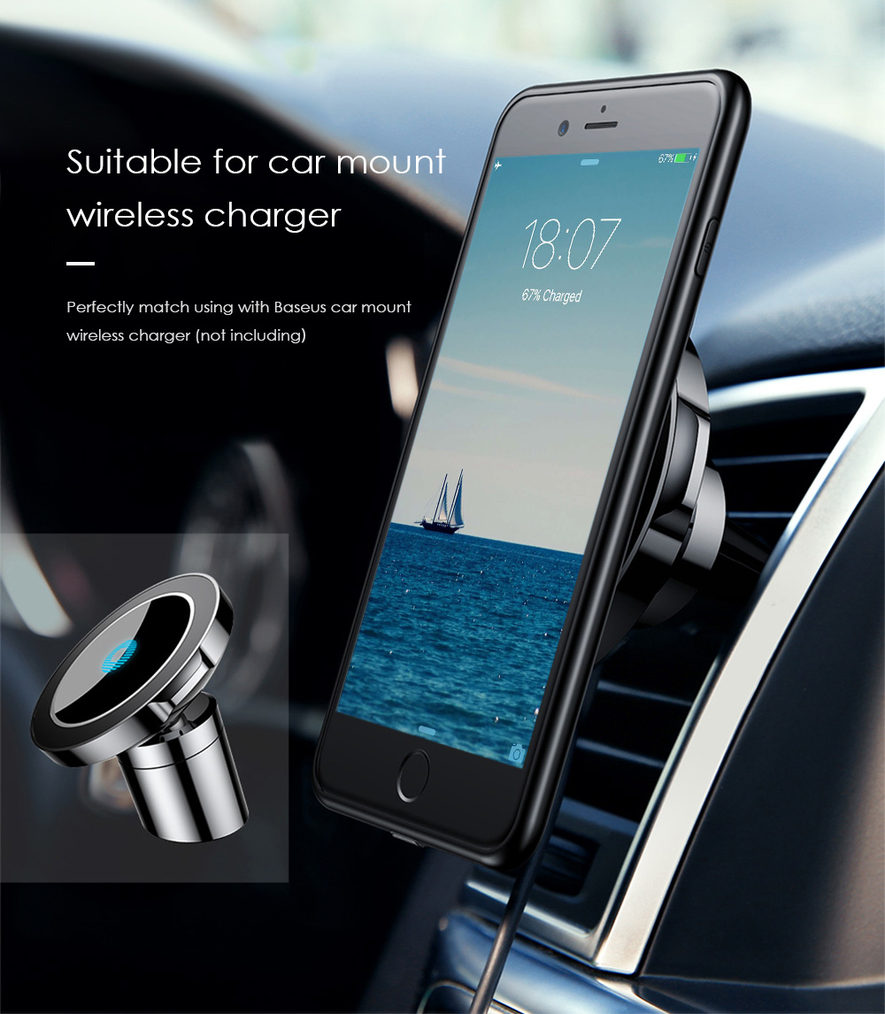 baseus qi wireless charge receiver case for iphone 7 14. Black Bedroom Furniture Sets. Home Design Ideas
