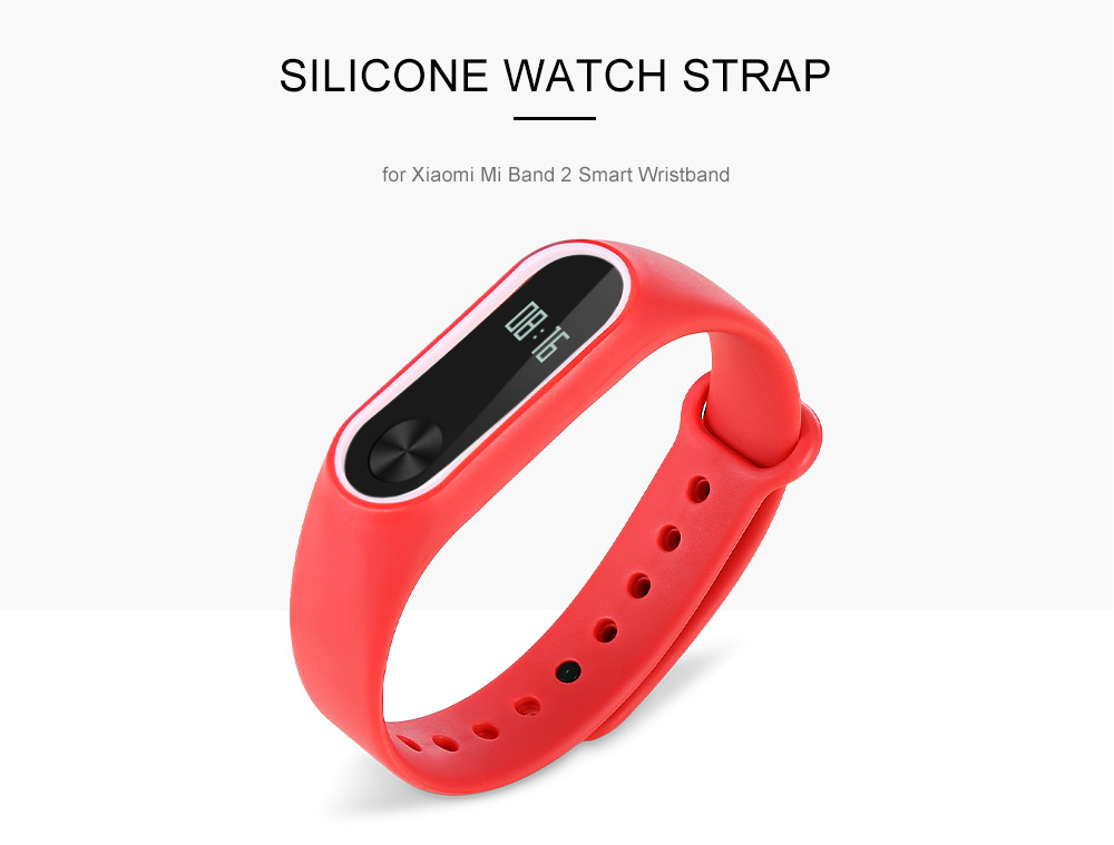 14mm Silicone Strap for Xiaomi Mi Band 2 Smart Wristband
