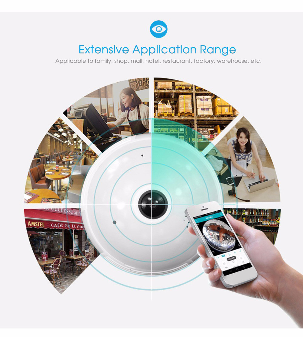 Led Light Bulb With 360 Degree Panoramic Camera 3777 Free Switches Also Flasher Relay Wiring Diagram Besides Arduino Ir Sensor Wireless Fisheye White Without Tf Card