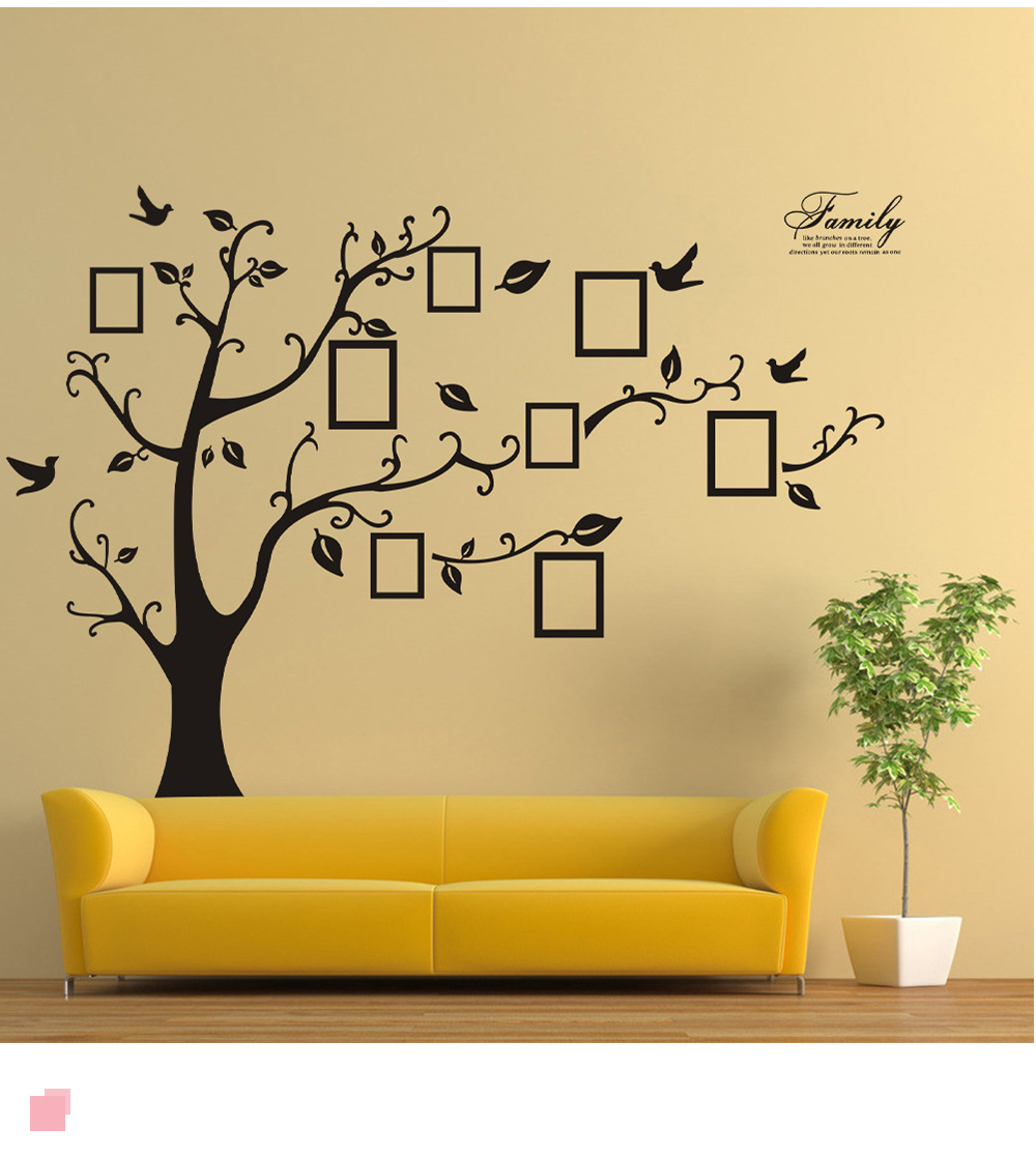 Picture Tree Wall Sticker for Bedroom Decoration 2PCS