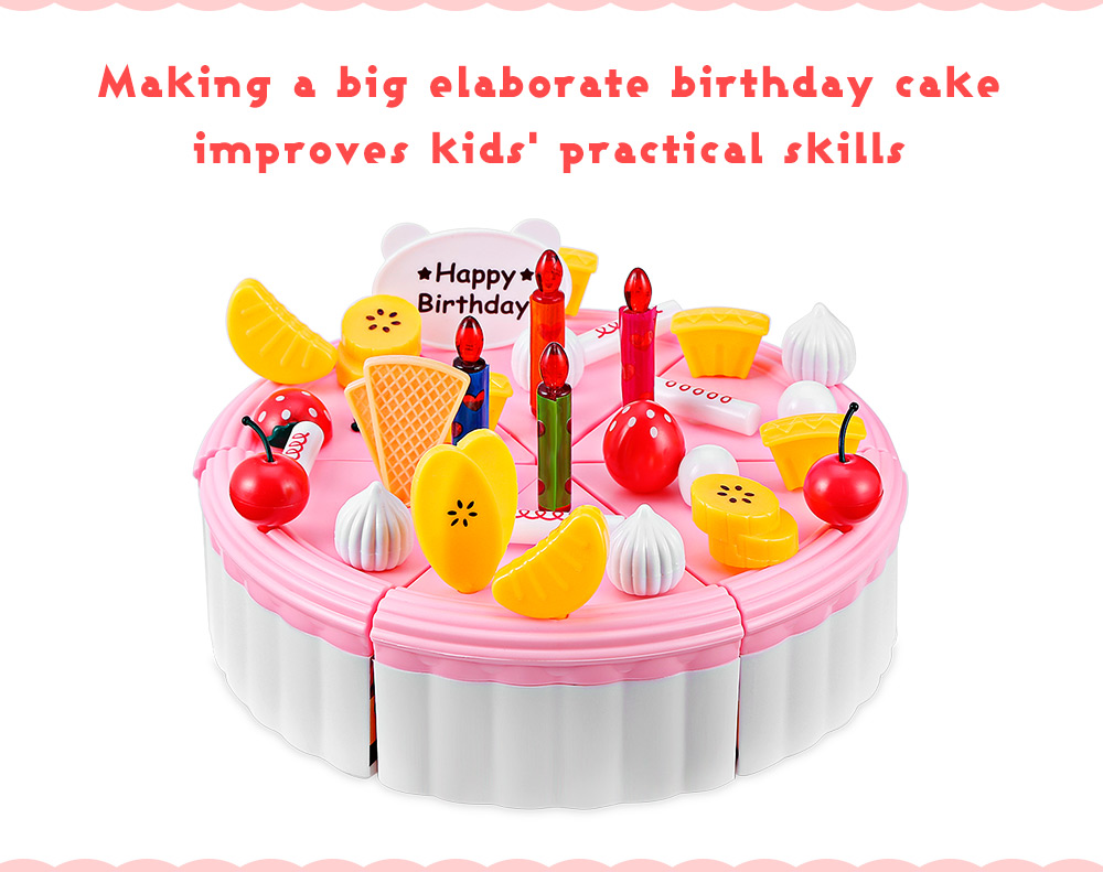 Prime 73Pcs Party Birthday Cake Toy Play Fruit Food For Kids Gearbest Personalised Birthday Cards Akebfashionlily Jamesorg