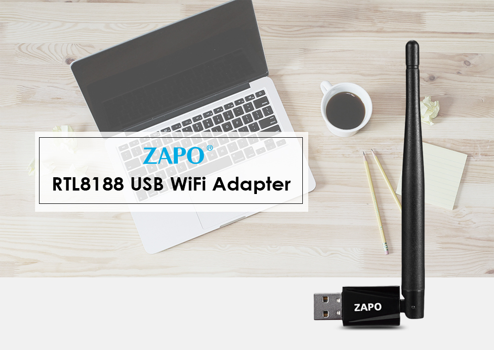 ZAPO RTL8188 USB WiFi Adapter 150M Portable Network Router 2.4GHz