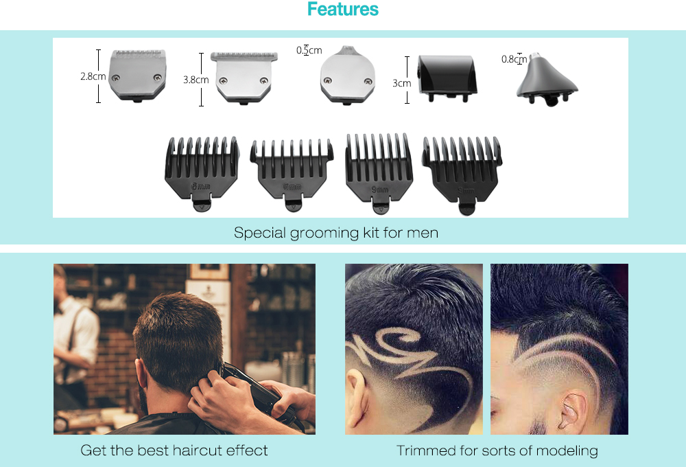 Kemei Km 3590 Nose Beard Hair Trimmer Clipper Shaver 1053 Free